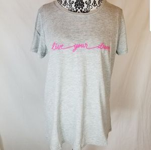 "Torrid ~ ""Live Your Dream"" Graphic Tee Shirt Large"